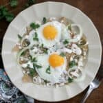 Chilaquiles with Fried Eggs, or Chilaquiles con Huevos Fritos