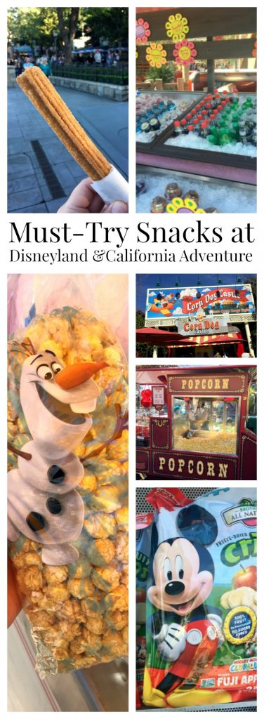 "If you are visiting the Magic Kingdom, there are some ""Must Try Snacks"" at Disneyland and California Adventures. By Mama Maggie's Kitchen"