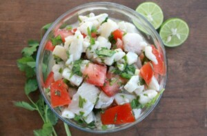 Fish Ceviche, or Ceviche de Pescado, is the perfect warm weather food. You never feel heavy after you eat it. It's full of all my favorite Mexican flavors. On top of that, it's cheap and easy to make. Talk about a great way to celebrate Cinco de Mayo. Winner! No chicken dinner, and it'll help you stay thinner. by Mama Maggie's Kitchen
