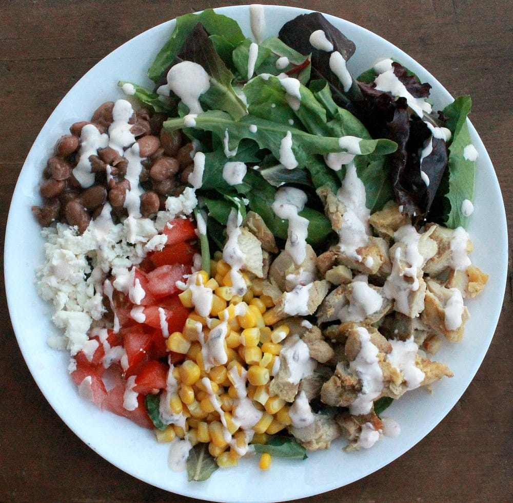 Mexican Chicken Salad with Chipotle Lime Dressing is a healthy and yummy dish that comes together easily. Perfect for weeknight meals. By Mama Maggie's Kitchen