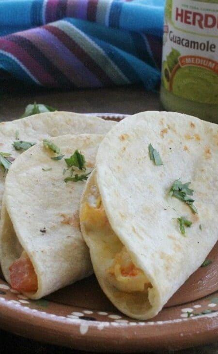 Tacos Gobernador, or Cheesy Shrimp Tacos. by Mama Maggie's Kitchen