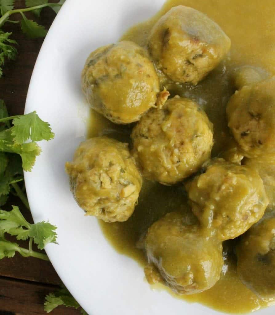 Tuna Balls in Salsa Verde, or Bolitas de Atún en Salsa Verde. Easy, cheap, and delicious. by Mama Maggie's Kitchen