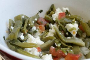 Cactus Salad with Queso Fresco (or Ensalada de Nopales con Queso Fresco)
