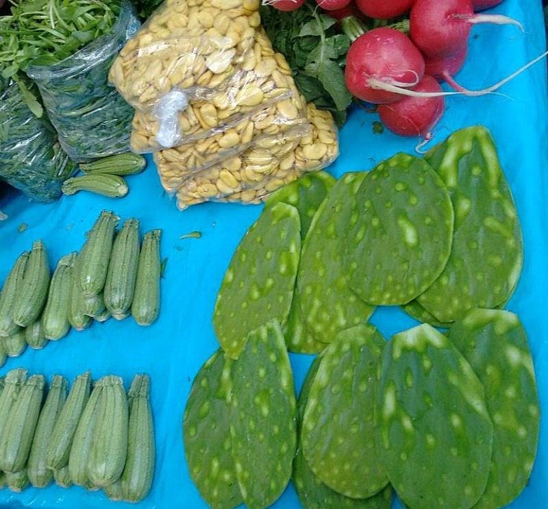Nopales at the mercado