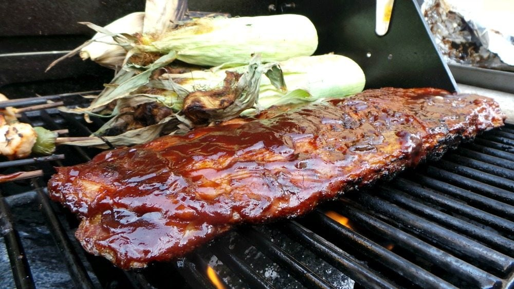 Spice-Rubbed Ribs with Chipotle BBQ Sauce has a great balance of spicy and sweet flavors. Perfect for summer BBQs and grilling fun. By Mama Maggie's Kitchen