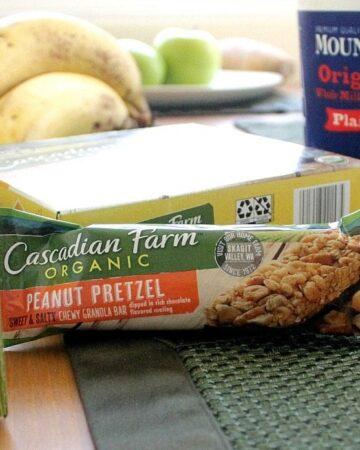 Cascadian Farm Peanut Pretzel and Box Tops