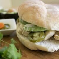 Chicken Torta - This is a yummy and easy to assemble Mexican sandwich. It's Mexican food goodness at its best. By Mama Maggie's Kitchen