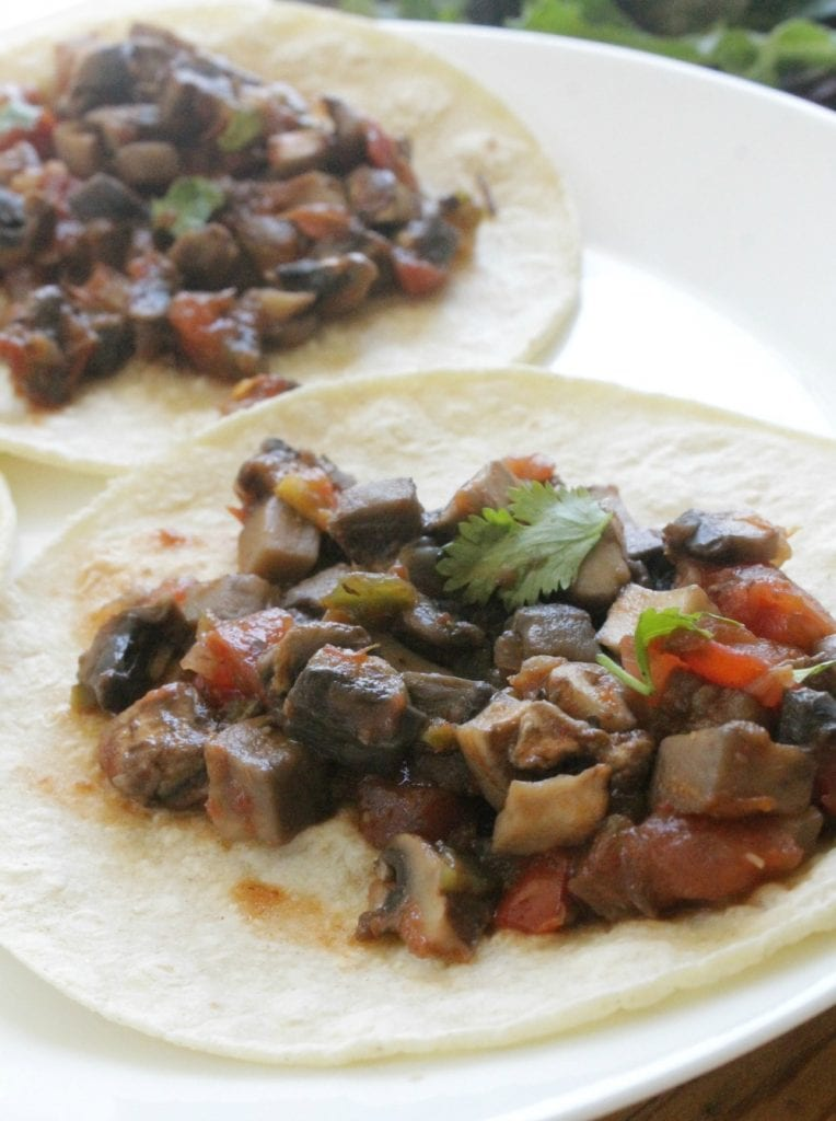 Vegetarian Tacos - Delicious Mexican food that's perfect for Meatless Monday and Taco Tuesday. By Mama Maggie's Kitchen