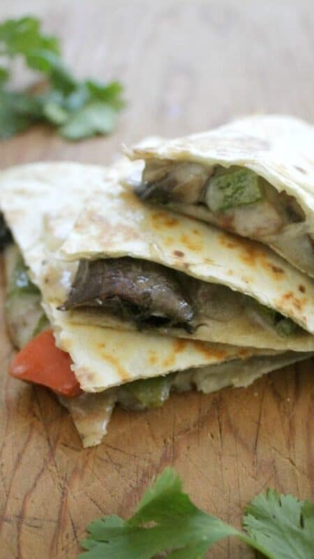 Veggie Quesadillas are light and delicious. They come together easily and make a great meatless meals. Hope you enjoy! By Mama Maggie's Kitchen