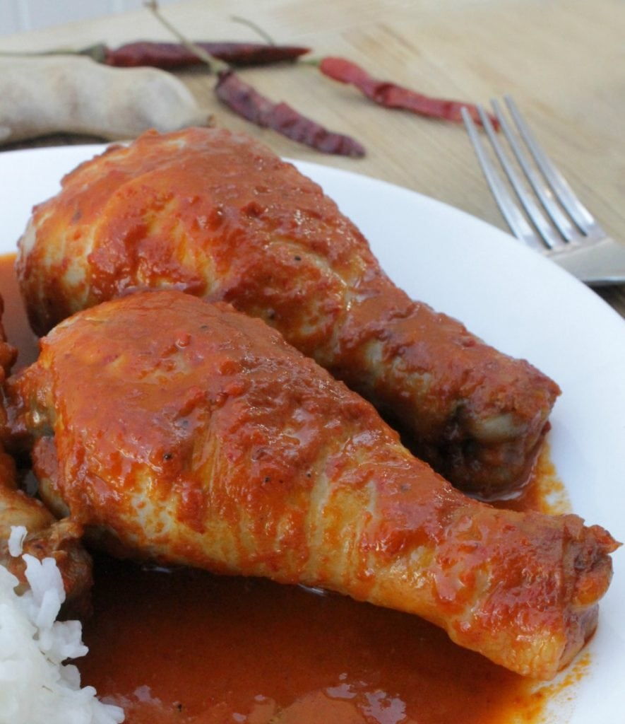 This Chicken Drumsticks in Tamarind Chili Sauce is delicious and full of amazing flavors. Spicy and sweet and ready to eat. By Mama Maggie's Kitchen