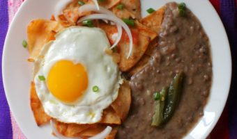 Red Chilaquiles (Chilaquiles Rojos)