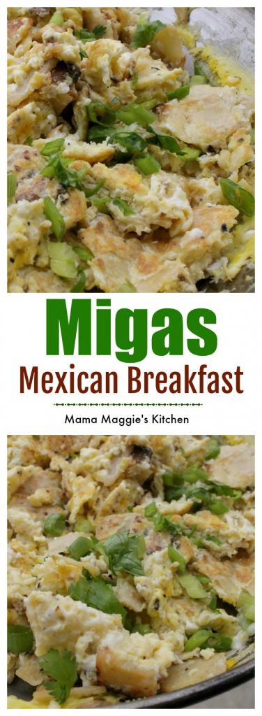 Mexican Breakfast Migas are great way to start the day. Mexican food. Sunday Brunch. By Mama Maggie's Kitchen