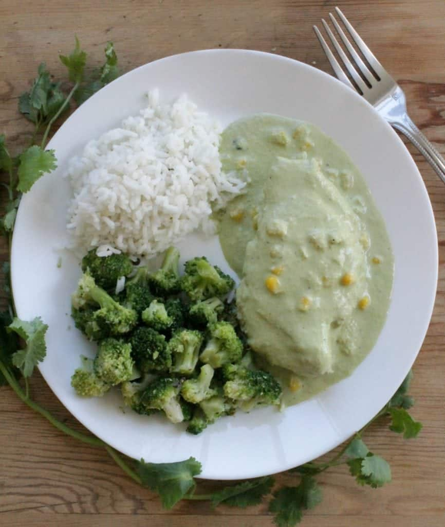 "Chicken in Creamy Poblano Sauce (or Pollo en Crema de Chile Poblano) is a delicious Mexican food recipe that will make you beg for seconds. This truly is the definition of ""awesome-sauce."" by Mama Maggie's Kitchen"