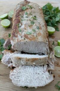 Slow Cooker Honey Lime Chipotle Pork Loin is deliciously flavorful and so easy-to-make. Sure to be a family dinner favorite. By Mama Maggie's Kitchen
