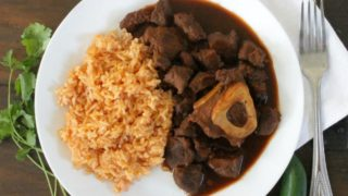 Braised Chile Colorado Beef Shanks, or Chamorros con Chile Colorado