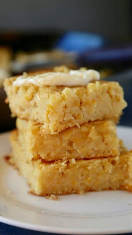 Pan de Elote, or Mexican Sweet Corn Cake, is a moist and delicious treat. Perfect for breakfast or for dessert. Enjoy! By Mama Maggie's Kitchen