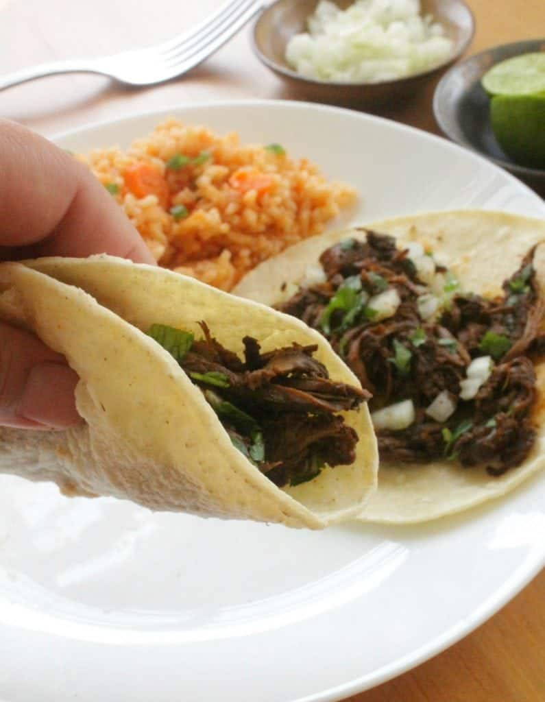 Slow Cooker Ancho Beef Tacos is an easy and yummy recipe that brings flavor to your table. Mexican food has never been better. By Mama Maggie's Kitchen