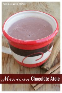 Atole de Chocolate is a delicious and comforting Mexican drink. It's the best way to warm up on cold nights. By Mama Maggie's Kitchen