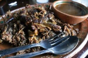 Borrego Tatemado, or Mexican Fire-Roasted Lamb