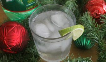 Lime is Fine During Christmas Time Cocktail