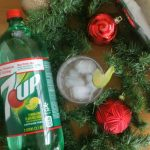 Lime is Fine During Christmas Time Cocktail. A festive #Holiday drink by Mama Maggie's Kitchen #cocktail
