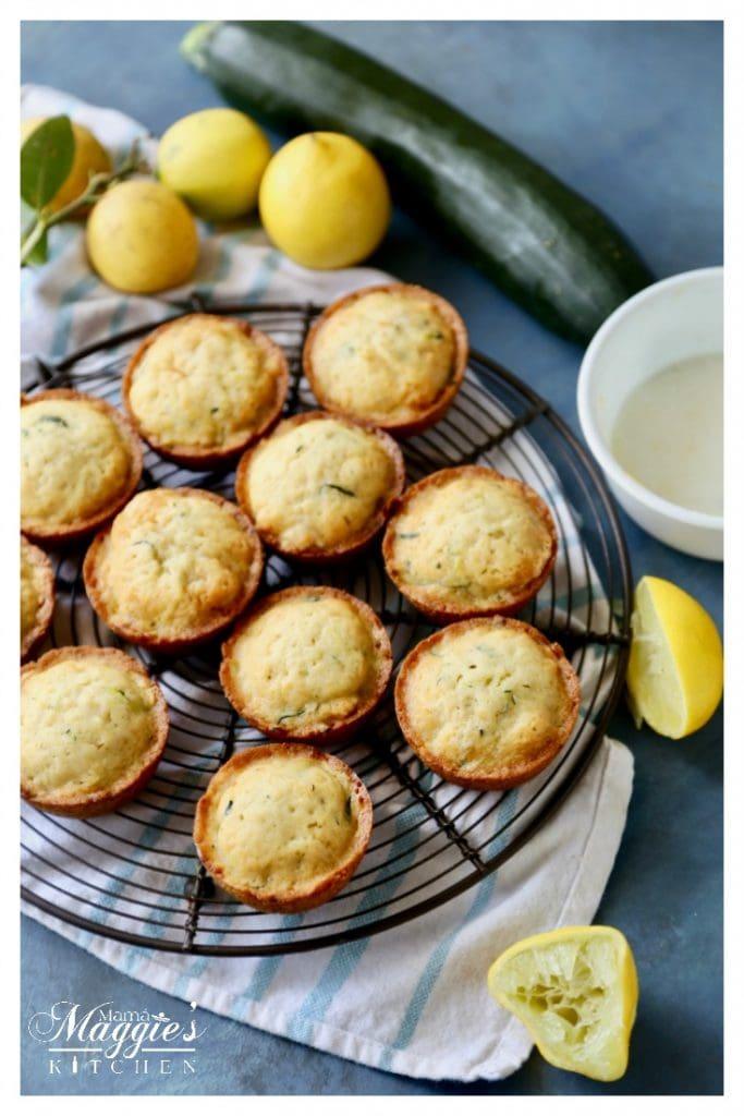Zucchini Lemon Jalapeño Muffins make a scrumptious baked treat. Serve them warm with butter. Enjoy. By Mama Maggie's Kitchen
