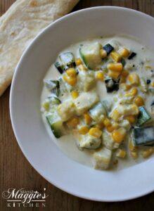 Easy Creamy Zucchini Corn and Poblano Chile (Calabacitas con Elote y Rajas de Chile Poblano)