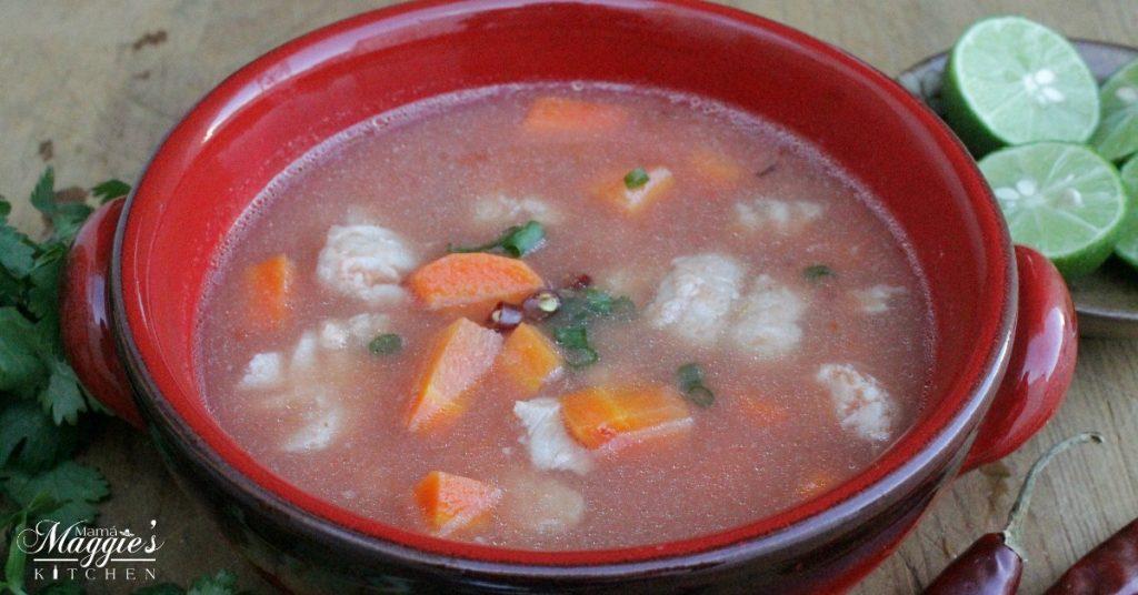Mexican fish soup or caldo de pescado for Mexican fish soup recipe