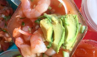 Coctel de Camarones, or Mexican Shrimp Cocktail