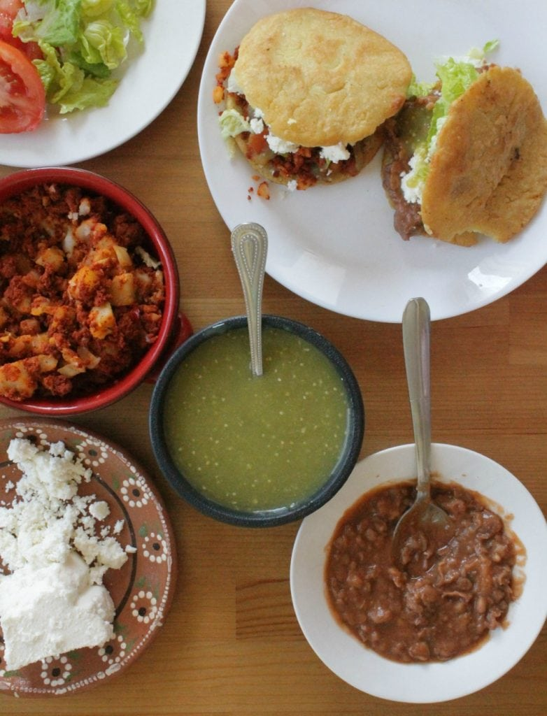 Fillings and toppings for gorditas