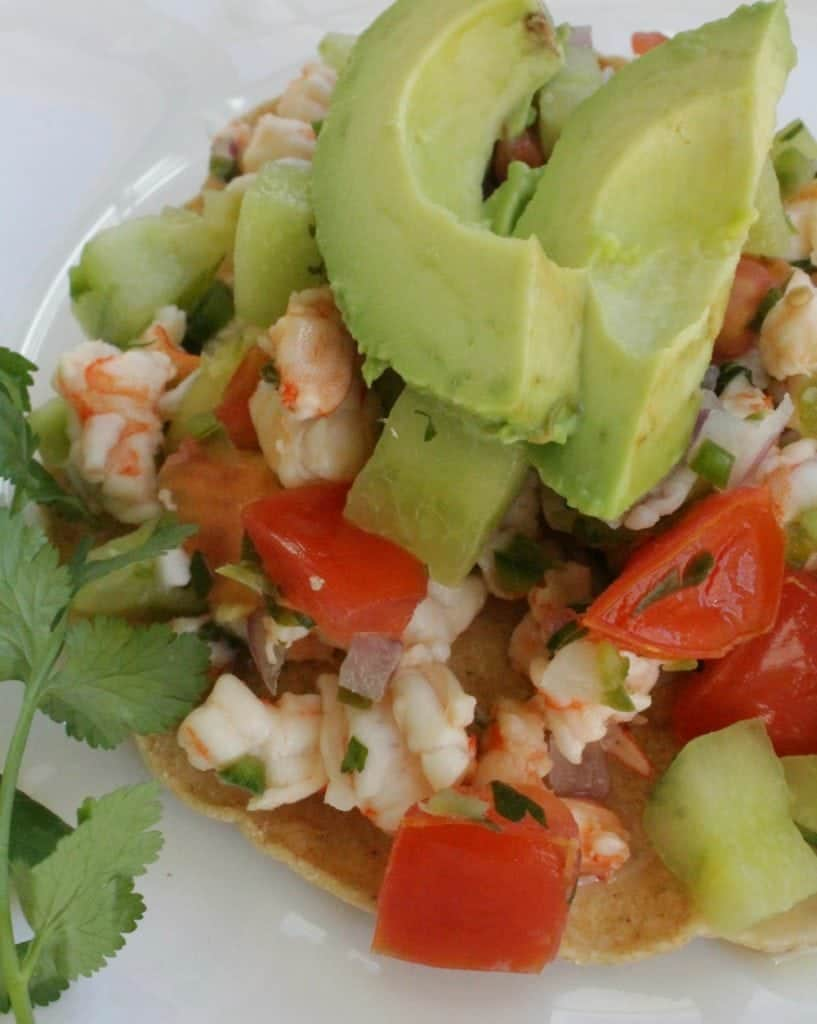 Shrimp ceviche ceviche de camar n video for Shrimp and fish ceviche