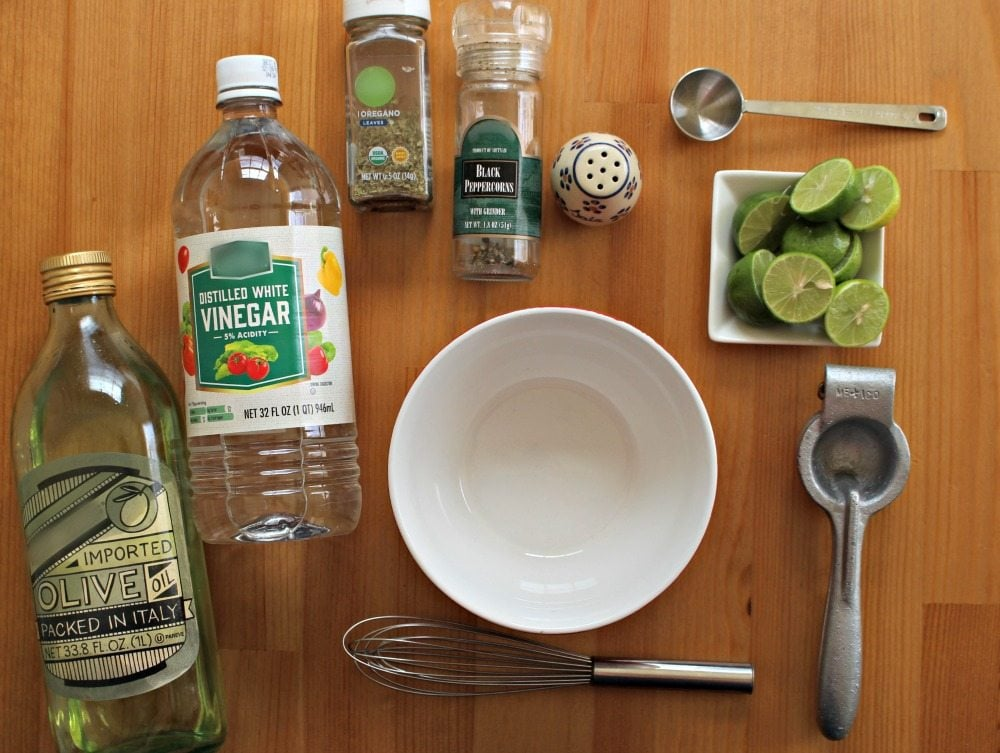 ingredients for Lime Vinaigrette
