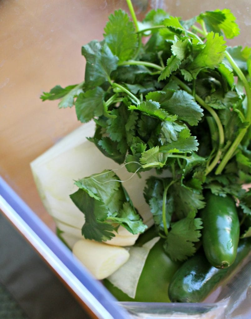 Cilantro and more in a blender
