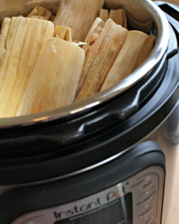 Chicken tamales in an Instant Pot