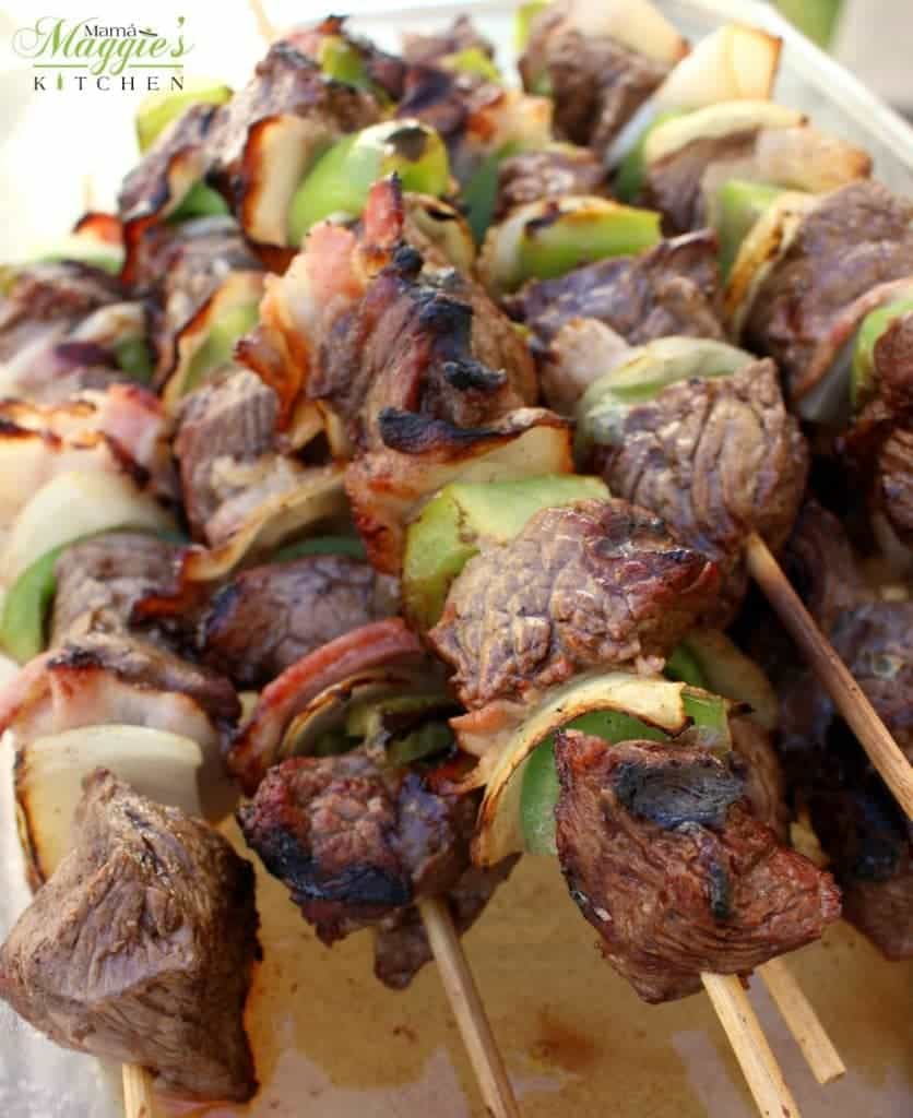 Northern Style Mexican Beef Skewers (or Alambre de Res Norteño)