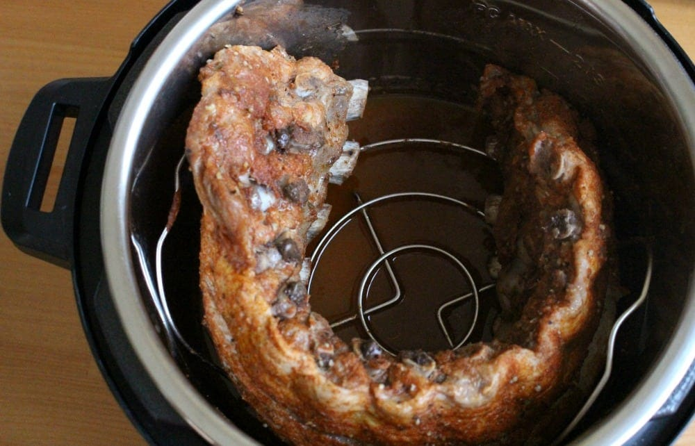 Cooked BBQ Ribs in an Instant Pot