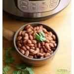 Beans and rice and everything spice. That's what Mexican food is made of. By making these Instant Pot Pinto Beans NO SOAK, you save time without sacrificing taste. Love it! by Mama Maggie's Kitchen
