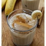 Banana Agua Fresca, or Agua de Plátano, is a refreshing and light summer drink. A sweet and creamy beverage that's perfect on warm days. by Mama Maggie's Kitchen