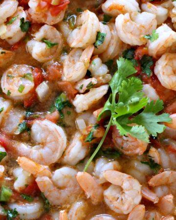 Camarones Rancheros or Ranch-Style Shrimp with cilantro