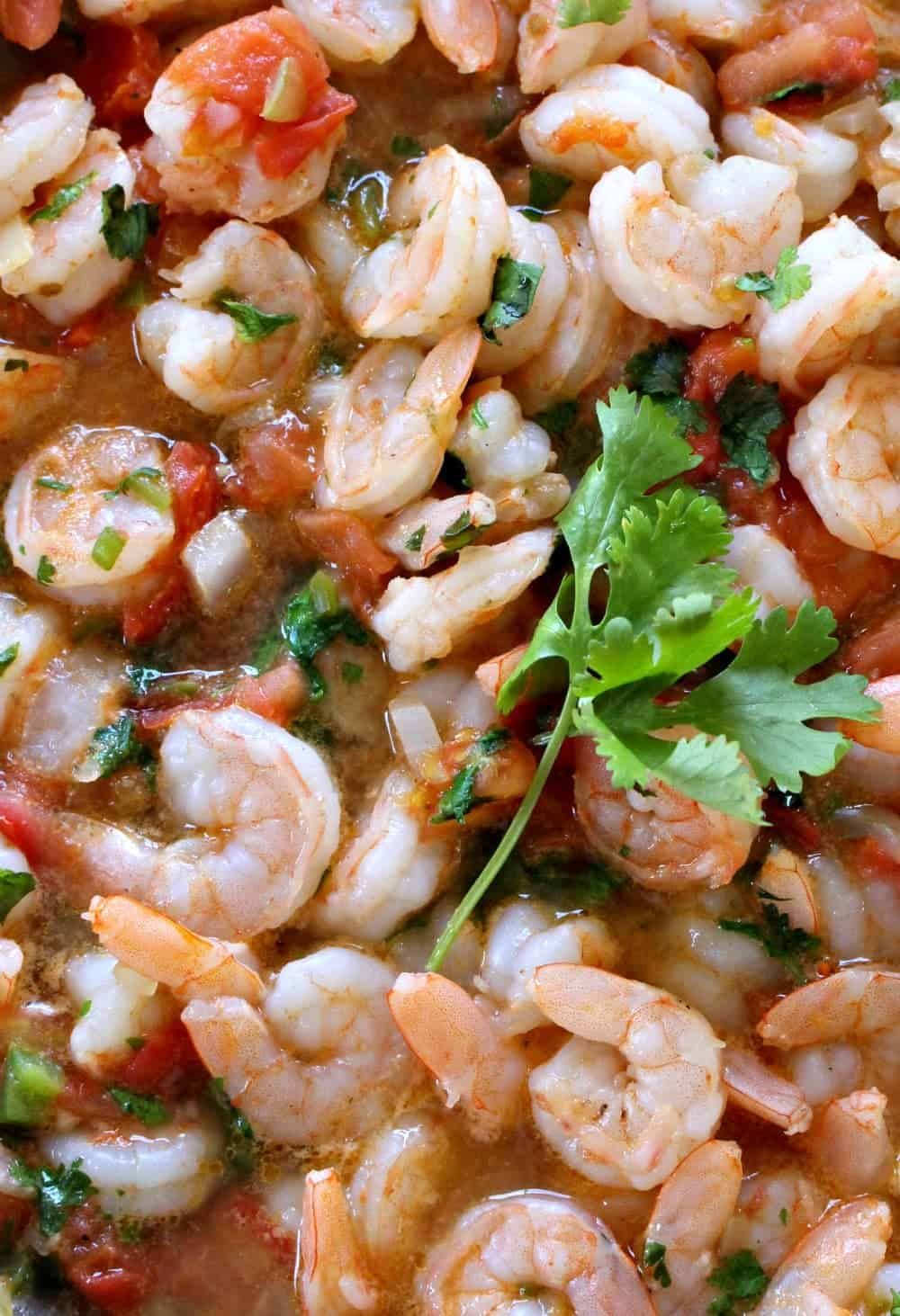 Camarones Rancheros or Ranch-Style Shrimp with cilantro