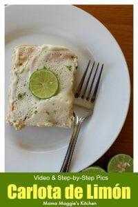 Carlota de Limon, a classic Mexican Dessert by Mama Maggie's Kitchen