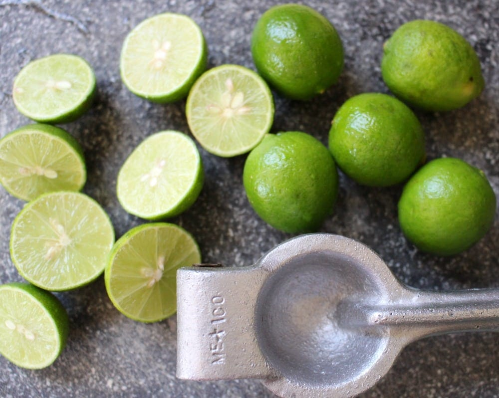 Key Limes and Lime Juicer
