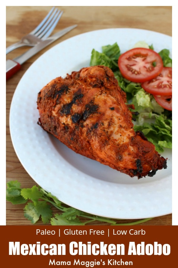 Pollo Adobado, or Mexican Chicken Adobo, is a savory and tasty dish. It marinates for hours to create a delicious and robust flavor. Watch the video or follow the step-by-step photos to recreate this traditional Mexican recipe. By Mama Maggie's Kitchen