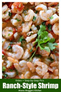 Camarones Rancheros, or Ranch-Style Shrimp, is an easy Mexican recipe loaded with flavor. Watch the VIDEO or follow the step-by-step pictures below to recreate this savory and tasty dish. By Mama Maggie's Kitchen