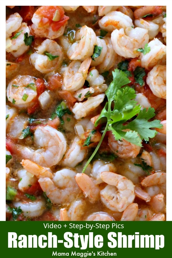 Camarones Rancheros, or Ranch-Style Shrimp, is an easy Mexican recipe loaded with flavor. Watch the VIDEO or follow the step-by-step pictures to recreate this savory and tasty dish. By Mama Maggie's Kitchen