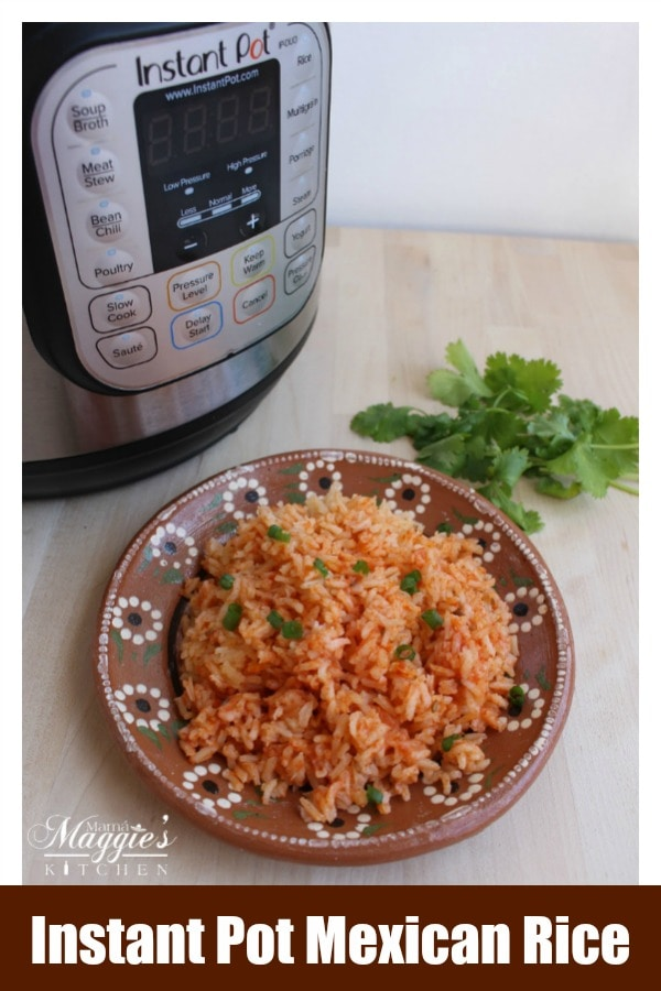 Instant Pot Mexican Rice (Arroz Mexicano) is a tasty side dish to any Mexican food recipes. Watch the VIDEO or follow along the step-by-step picture to recreate this classic dish. By Mama Maggie's Kitchen
