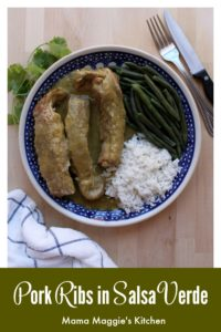 Costillas en Salsa Verde (or Pork Ribs in Mexican Salsa Verde) is a tasty and incredibly delicious dish. See the VIDEO or follow the step-by-step pictures to make this Mexican recipe. By Mama Maggie's Kitchen