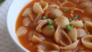 Sopa de Conchas Shell Pasta Soup
