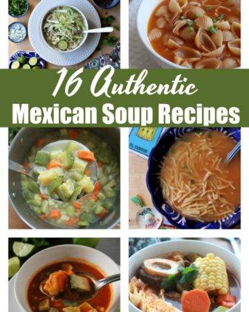 16 authentic Mexican soup recipes to warm you up this winter. These time-tested and traditional dishes add variety and flavor to any kitchen. By Mama Maggie's Kitchen