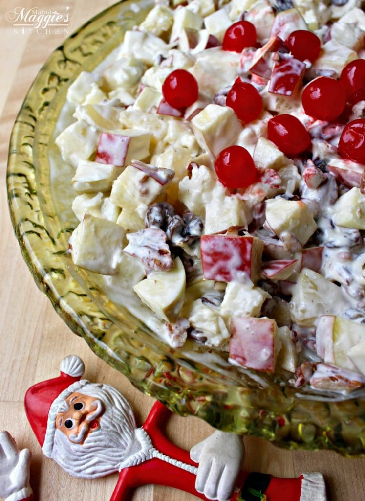 Ensalada Navideña (or Mexican Christmas Fruit Salad) is a mixture of apples and other fruits covered in a dreamy and creamy dressing.